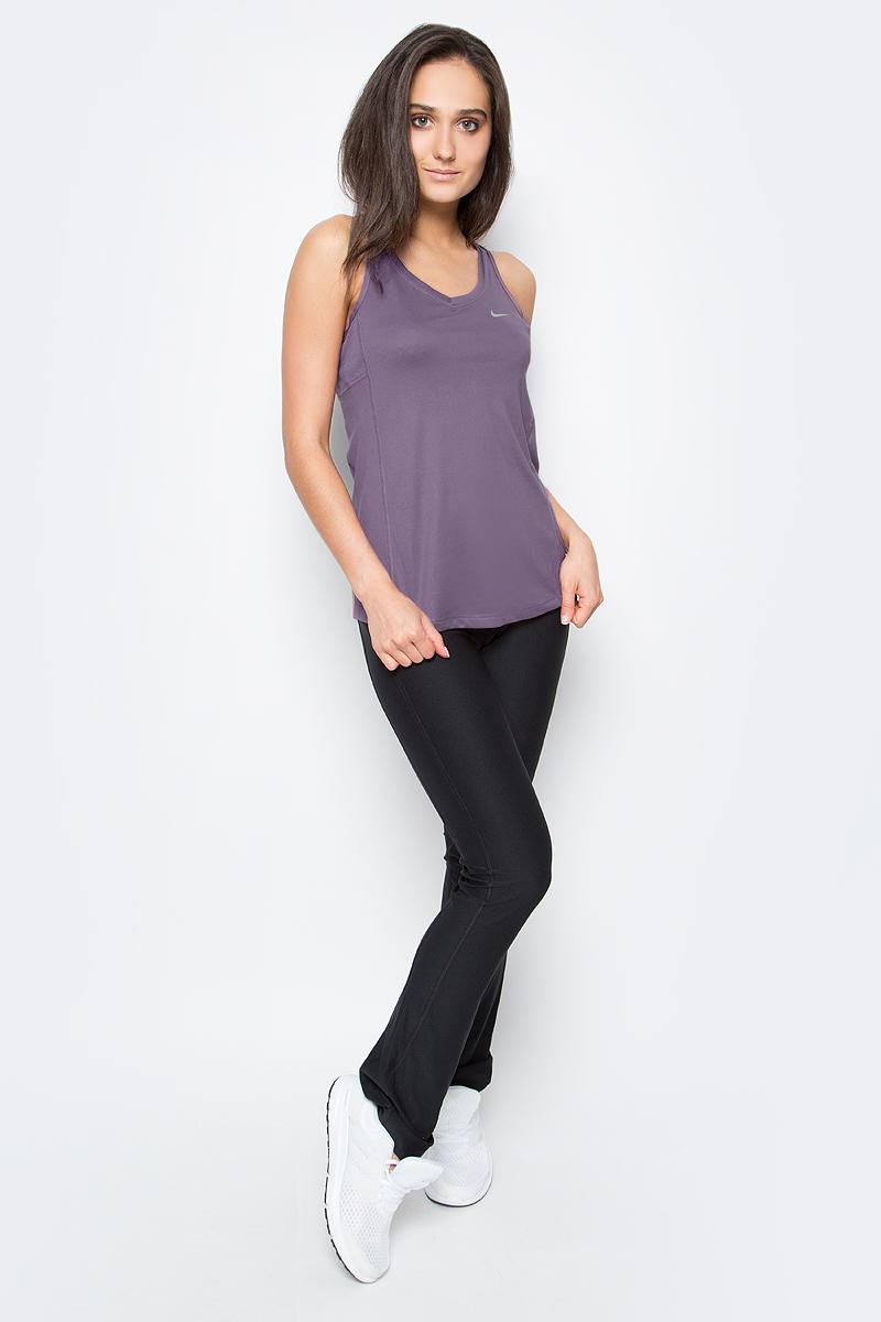 Майка для фитнеса женская Nike Miler Tank, цвет: фиолетовый. 686880-533. Размер L (46/48)686880-533Женская майка для фитнеса Miler Tank от Nike выполнена из полиэстера. Ткань Dri-FIT отводит влагу, обеспечивая быстрое высыхание во время бега.Т-образная спина не сковывает движений во время длительных пробежек.Сетка в верхней части спины обеспечивает дополнительный воздухообмен. Плоские швы не натирают кожу.
