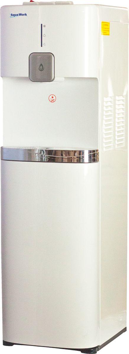 Aqua Work 1665S кулер для воды20021Кулер для воды Aqua Work 1665S с нагревом и компрессорной системой охлаждения - модель с установкой бутыли снизу.Система нагрева с мощностью 650 Вт нагревает за час не менее 6 литров до 87-96 градусовКомпрессорное охлаждение 100 Вт (конструкция, аналогичная сплит-системе) выдает за час не менее 2,5 литров холодной водыДополнительная клавиша для розлива охлажденной воды, на несколько градусов ниже комнатной температурыЗащелка для защиты от случайного нажатия (еще ее называют защитой от ожогов) на горячей кнопкеСветодиодная индикация: нагрев, охлаждение и уровень воды в бутылиВозможно использование не только стандартных 19-литровых бутылей, но и иногда встречающихся 12-литровыхПодходят любые стаканодержатели - и на магните, и на шурупахХорошая производительность, отличный внешний вид, минимальные (для кулера с нижней загрузкой) размеры и простота замены бутыли делают диспенсер Aqua Work 1665S отличной покупкой и для офиса и для домашней эксплуатации.