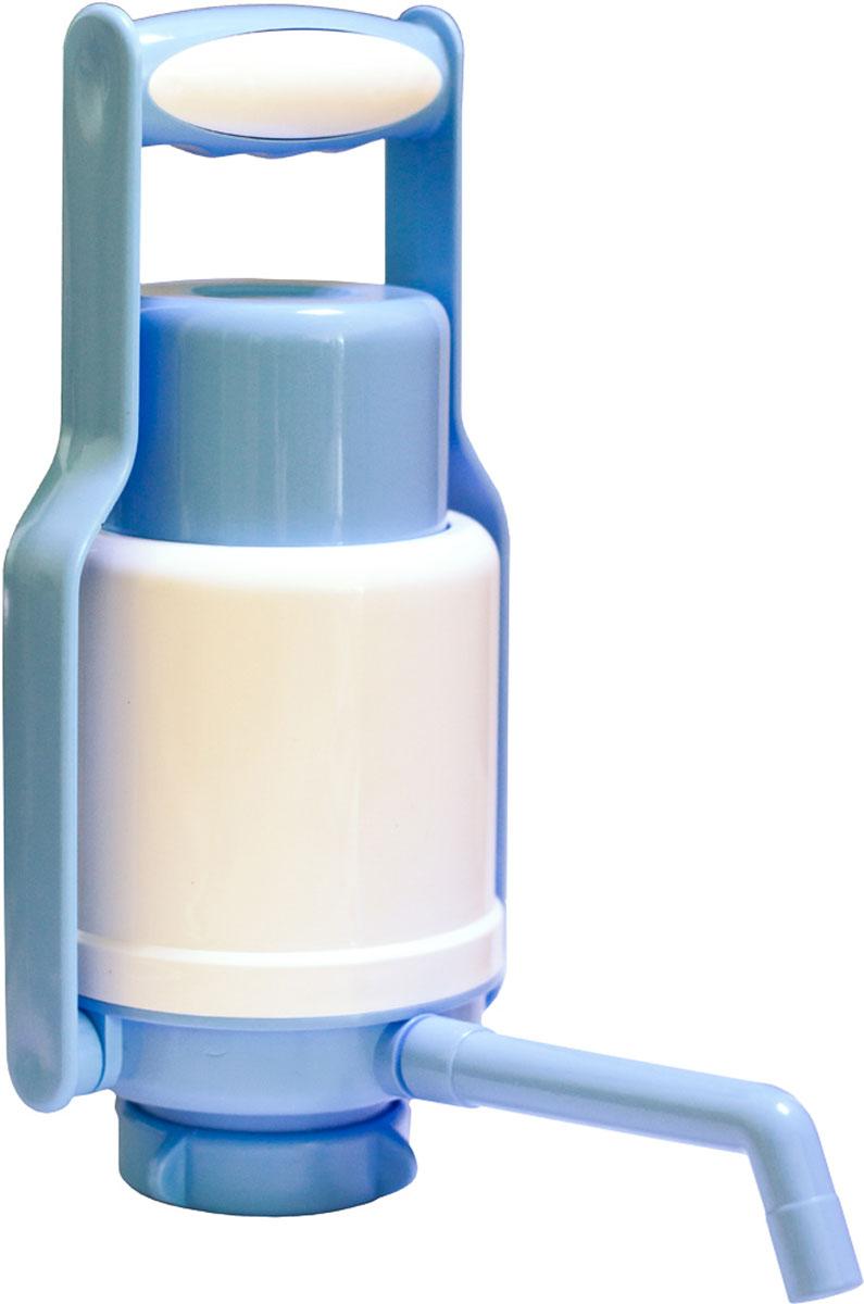 Aqua Work Дельфин Эко+ помпа для воды20276Механическую помпу Aqua Work Дельфин Эко Плюс очень удобно использовать для розлива питьевой воды изнаиболее распространенных поликарбонатных и ПЭТ бутылей емкостью 19 или 12 литров.Оснащена специальной ручкой, что позволяет легко переносить бутыль не снимая помпы в любое удобное для васместо. Ручка легко выдерживает вес до 40 кг, при необходимости откидывается назад, чтобы не мешать во времяиспользования насоса.Ручная помпа Эко Плюс работает по принципу насоса: при каждом нажатии на кнопку с помощью нагнетаемоговнутрь воздуха питьевая вода выдавливается из бутыли и подается в подставленную посуду. Благодарязаборной телескопической трубке, опускающейся буквально до самого дна, помпа легко откачивает воду даже вслучаях, когда ее уровень в таре уменьшается до нескольких милиметров.Изготовлена из качественного пищевого пластика, что обеспечивает надежность и длительную эксплуатацию.