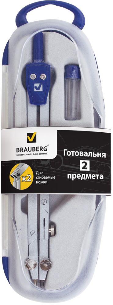 Brauberg Готовальня Passe 2 предмета210325Металлическая готовальня Brauberg Passe предназначена для студентов и профессионалов. В состав готовальни входят 2 предмета: Циркуль 155 мм с двумя сгибаемыми ножками и подстраиваемой иглой.Пенал с запасным грифелем.