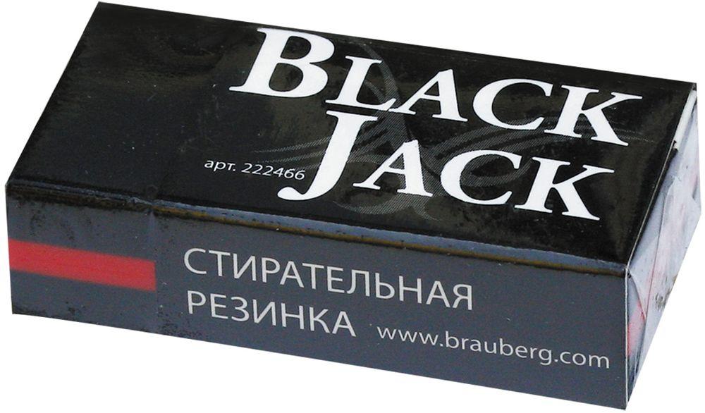 Brauberg Ластик Black Jack222466Трехслойный ластик поставляется в картонном держателе, который защищает поверхность резинки от загрязнения. Ластик обеспечивает легкое и чистое стирание без повреждения поверхности бумаги и без образования бумажной пыли.