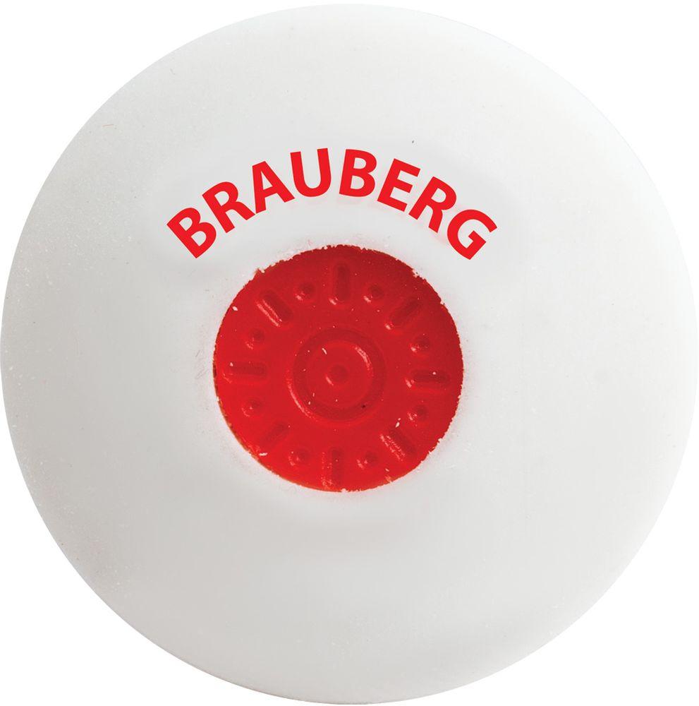 Brauberg Ластик Energy круглый цвет белый brauberg ластик black jack