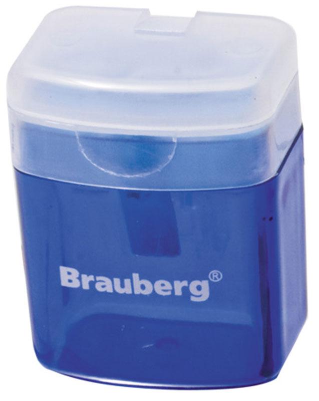 Brauberg Точилка OfficeBox с контейнером цвет синий222494Точилка Brauberg OfficeBox выполнена с контейнером. Качественное стальное лезвие обеспечивает лёгкое равномерное затачивание карандашей. Контейнер для стружки изготовлен из тонированного цветного пластика.
