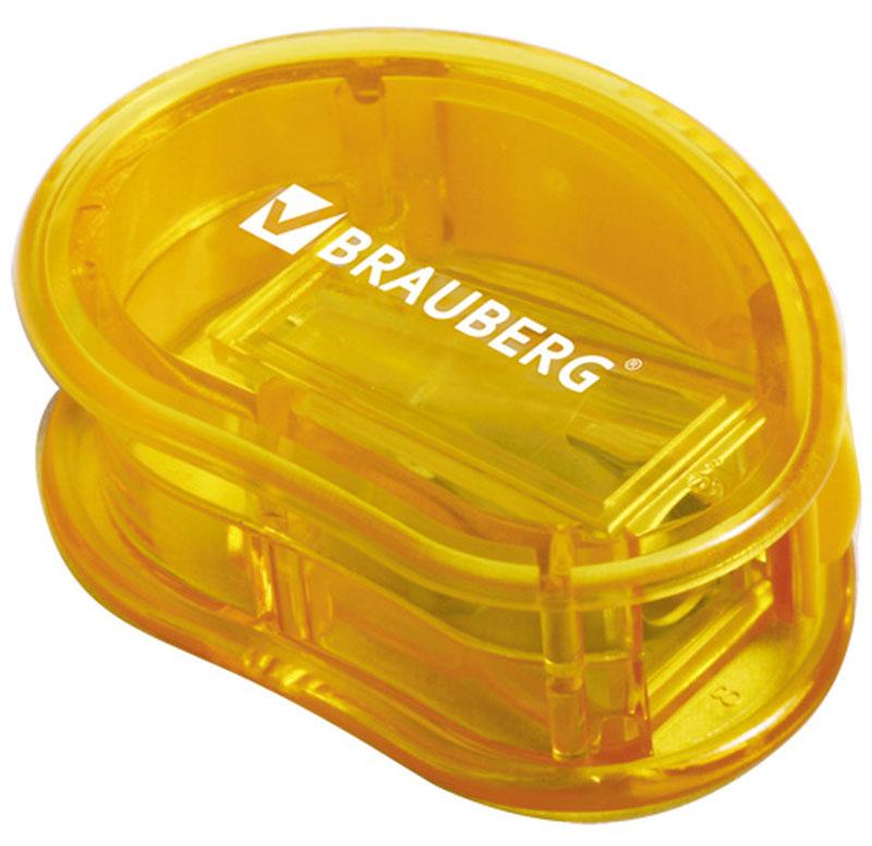 Brauberg Точилка Marine с контейнером цвет желтый222506Точилка Brauberg Marine с контейнером, качественное стальное лезвие обеспечивает лёгкое равномерное затачивание карандашей. Контейнер для стружки изготовлен из тонированного цветного пластика.