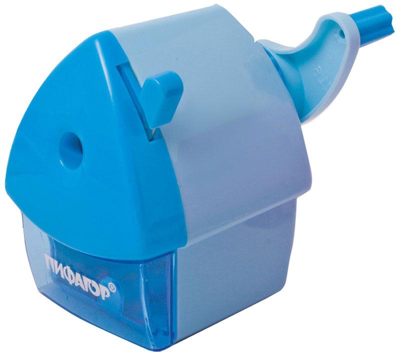 Пифагор Точилка Домик гнома цвет голубой222521Точилка Пифагор с контейнером предназначена для затачивания деревянных и пластиковыхкарандашей. Качественный металлический механизм обеспечивает легкое равномерное затачиваниекарандашей и долговечность работы точилки. Корпус изделия выполнен в форме домика.