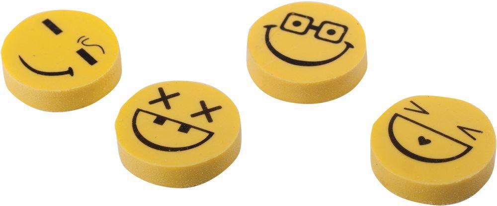 Пифагор Ластик Смайлики 4 шт223615Ластик круглой формы используется для удаления надписей, выполненных карандашом. Обеспечивает легкое и чистое стирание без повреждения поверхности бумаги и без образования бумажной пыли.