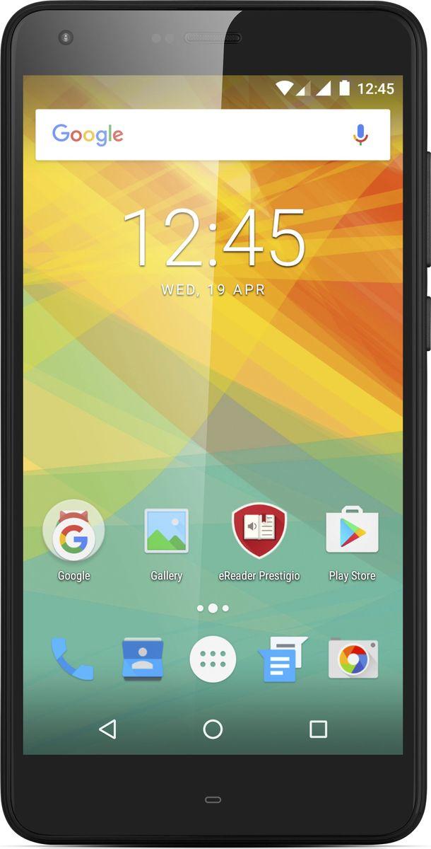 Prestigio Grace S7 LTE, BlackPSP7551DUOBLACKPrestigio Grace S7 LTE – продвинутый супергерой нового поколения. За тонким 8.7-миллиметровым корпусом и стильным 2,5D стеклом скрывается сила 5000 мАч литий-полимерной батареи. Смартфон может работать дни напролет без подзарядки, снимать чётко и контрастно ночью, как днём. Все изображения на 5.5 IPS On-cell дисплее настолько реалистичные, что кажется, будто их можно взять рукой. Для Grace S7 LTE нет препятствий, ведь он поддерживает 4G интернет и работает на Android 7.0 Nougat. Четырёхъядерный 64-битный процессор обеспечивает впечатляющую производительность в режиме многозадачности. Умный, сильный, комфортный, невероятно выносливый смартфон, который никогда вас не подведёт.В каждом современном смартфоне есть множество интересных фишек, вот только пользоваться ими по полной получится только если в девайсе мощный аккумулятор. 5000 мАч батарея - сильная сторона Grace S7 LTE. Вы можете слушать музыку и параллельно общаться в мессенджерах, играть онлайн или смотреть фильмы и при этом совершенно не экономить заряд на яркости экрана. Используйте аккумулятор по полной, получая всё и сразу!Grace S7 LTE знает о селфи всё. Фронтальная камера на 8.0 MП обеспечит высокое качество снимков. Вы сможете установить удобное для себя время на селфи-таймере и всегда быть в кадре. Хотите отметить, где сделано фото? Поставьте метку с помощью геотеггинга. Функция распознавания лиц поможет узнать, кто есть кто даже в самой большой компании. А чтобы не упустить главного, выбирайте режим беспрерывной или панорамной съёмки. Будьте спокойны за качество, красивые селфи и улыбки гарантированы.Где бы вы ни снимали, в палатке, у костра или на городских улицах, сенсор OmniVision обеспечит высокую чёткость изображений как при ярком, так и при недостаточном освещении. Отличная производительность и мгновенная фокусировка на объектах позволят сделать много удачных кадров, которыми вам захочется поделиться. Основная камера на 13.0 МП с quad-LED вспышкой и диаф