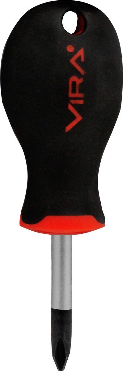 Отвертка Vira, крестовая, PH2 х 38 мм. 391115391115Отвертка Vira с эргономичной двухкомпонентной ручкой предназначена для монтажа и демонтажа резьбовых соединений. Простота и удобство отвертки сочетается с высоким качеством и прочностью стержня. Она превосходно справляется с любыми нагрузками, прекрасно подойдет как для профессионального использования, так и для решения бытовых задач. Наконечник намагничен для того, чтобы облегчить работу с мелкими деталями. Инструмент выполнен в уникальном дизайне и обладает неповторимой формой, идеально подходящей для любого типа кисти. Эргономичная ручка не только удобно лежит в руке, но еще и обеспечивает высокий крутящий момент, а антискользящее покрытие помогает крепко удерживать инструмент в любых рабочих условиях.Рукоятка отвертки оснащена дополнительным отверстием, используемое для воротка в случае, если необходимо приложить дополнительные усилия.