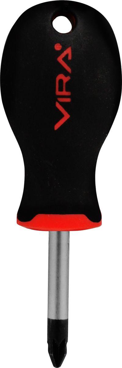 Отвертка Vira, для шлицевых гаек, PZ2 х 38 мм. 391152391152Отвертка Vira с эргономичной двухкомпонентной ручкой предназначена для монтажа и демонтажа резьбовых соединений. Простота и удобство отвертки сочетается с высоким качеством и прочностью стержня. Она превосходно справляется с любыми нагрузками, прекрасно подойдет как для профессионального использования, так и для решения бытовых задач.Наконечник намагничен, чтобы облегчить работу с мелкими деталями. Инструмент выполнен в уникальном дизайне и обладает неповторимой формой, идеально подходящей для любого типа кисти. Эргономичная ручка не только удобно лежит в руке, но еще и обеспечивает высокий крутящий момент, а антискользящее покрытие помогает крепко удерживать инструмент в любых рабочих условиях. Рукоятка отвертки оснащена дополнительным отверстием, используемое для воротка в случае, если необходимо приложить дополнительные усилия.