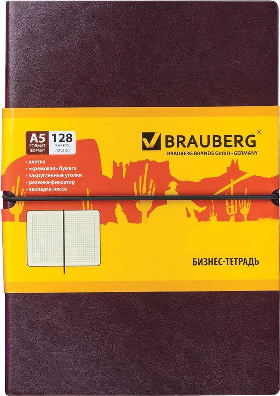 Brauberg Блокнот Western 128 листов в клетку формат А5125238Блокнот Brauberg Western - незаменимый атрибут современного человека, необходимый для рабочих и повседневных записей в офисе и дома.Внутренний блок состоит из 128 листов кремовой бумаги формата А5 с разметкой в клетку.