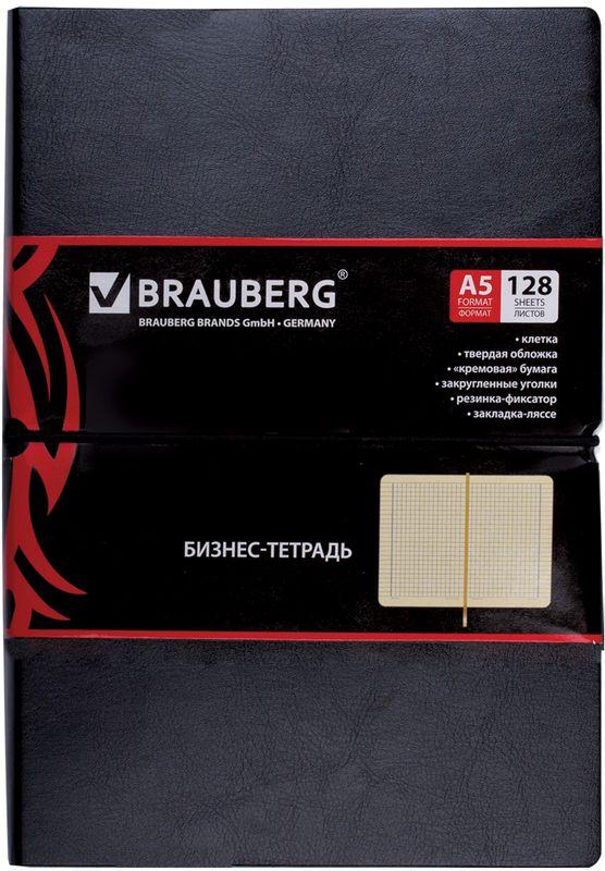 Brauberg Блокнот Black Jack 128 листов в клетку цвет черный 125240125240Блокнот Brauberg Black Jack с обложкой гладкая кожа, горизонтальной резинкой-фиксатором создана для тех, кто любит удивлять и хочет быть узнаваемым всегда и везде. Блокнот - незаменимый атрибут современного человека, необходимый для рабочих и повседневных записей в офисе и дома. Блокнот содержит 128 листов кремовой бумаги формата А5 с разметкой в клетку. Имеет закладку-ляссе. Он станет достойным аксессуаром среди ваших канцелярских принадлежностей. Такой блокнот пригодится как для деловых людей, так и для любителей записывать свои мысли, писать мемуары или делать наброски новых стихотворений.