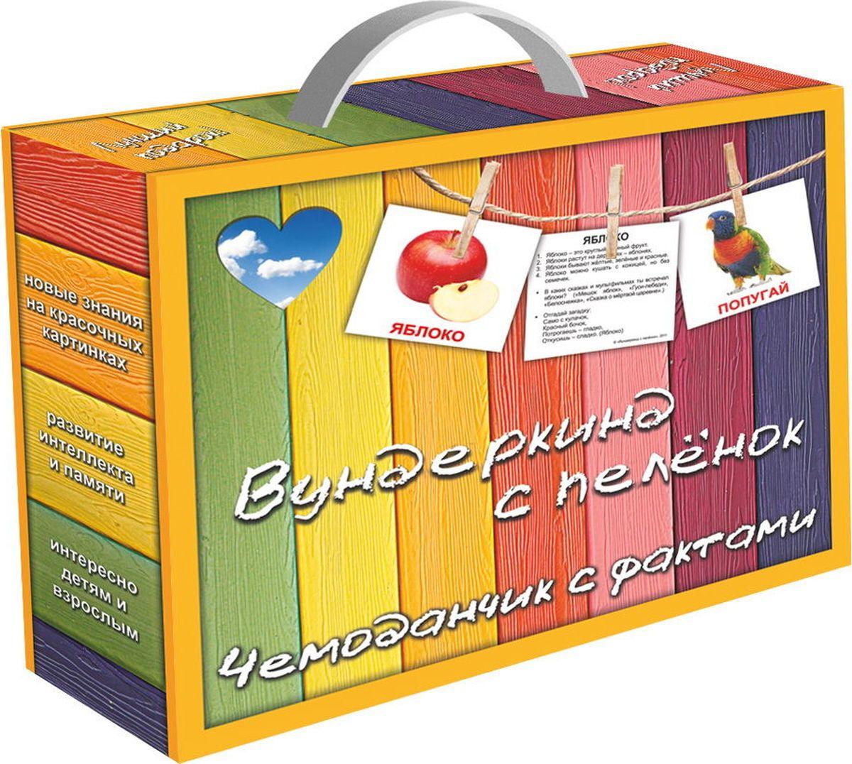 Вундеркинд с пеленок Обучающие карточки Чемоданчик с фактами набор обучающих карточек мини 40 numbers числа вундеркинд с пеленок