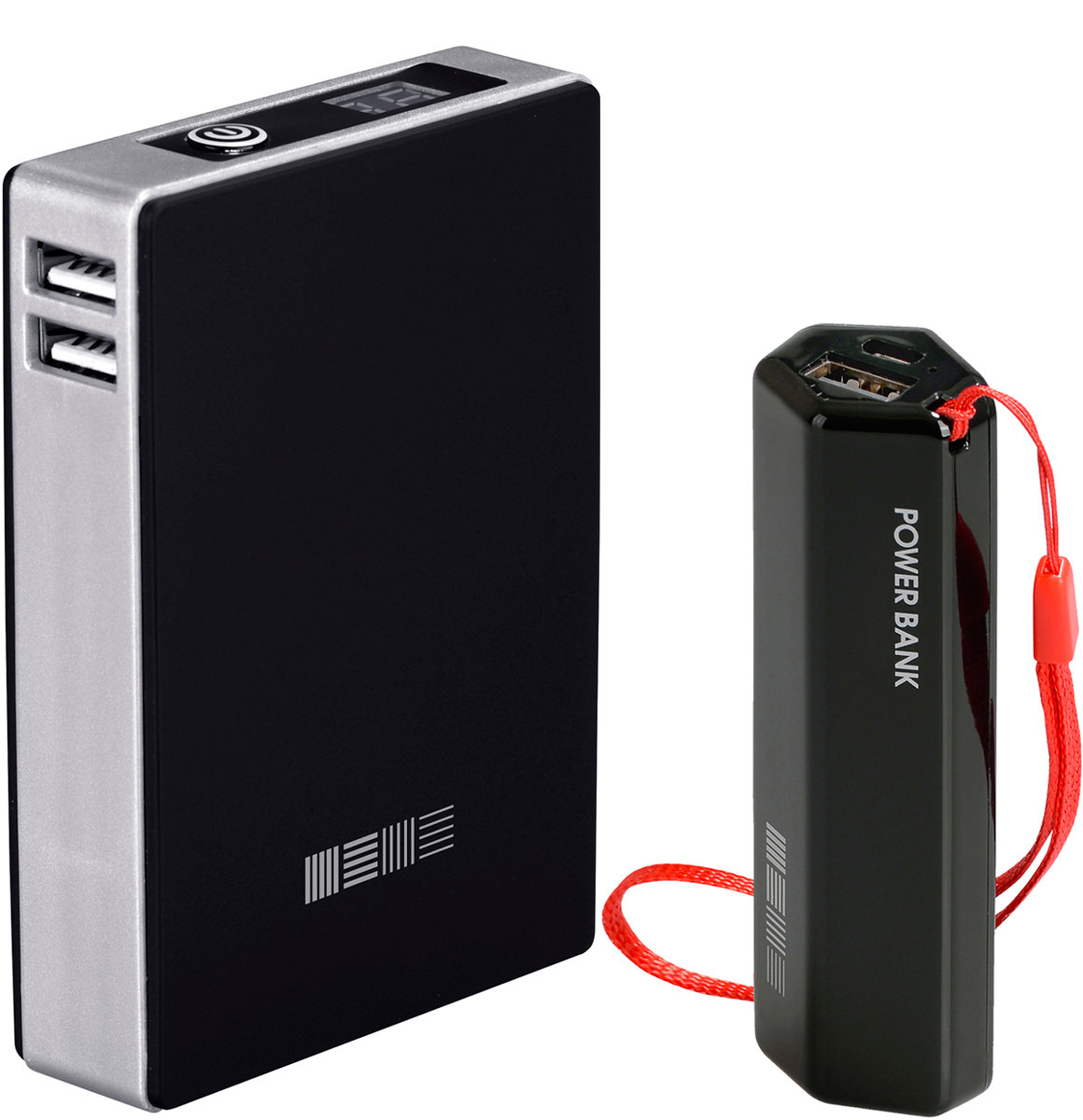 Interstep PB120002U (12000 мАч), Black + PB30001 (3000 мАч) комплект внешних аккумуляторов46956Soft touch покрытие, ячейки ULTRA 4 x 3000 мАч компоновка, 2USB/1+2AСлим упаковка с окномДисплей с точным отображением % заряда Вес 250 грДоп функция - Сквозной заряд.