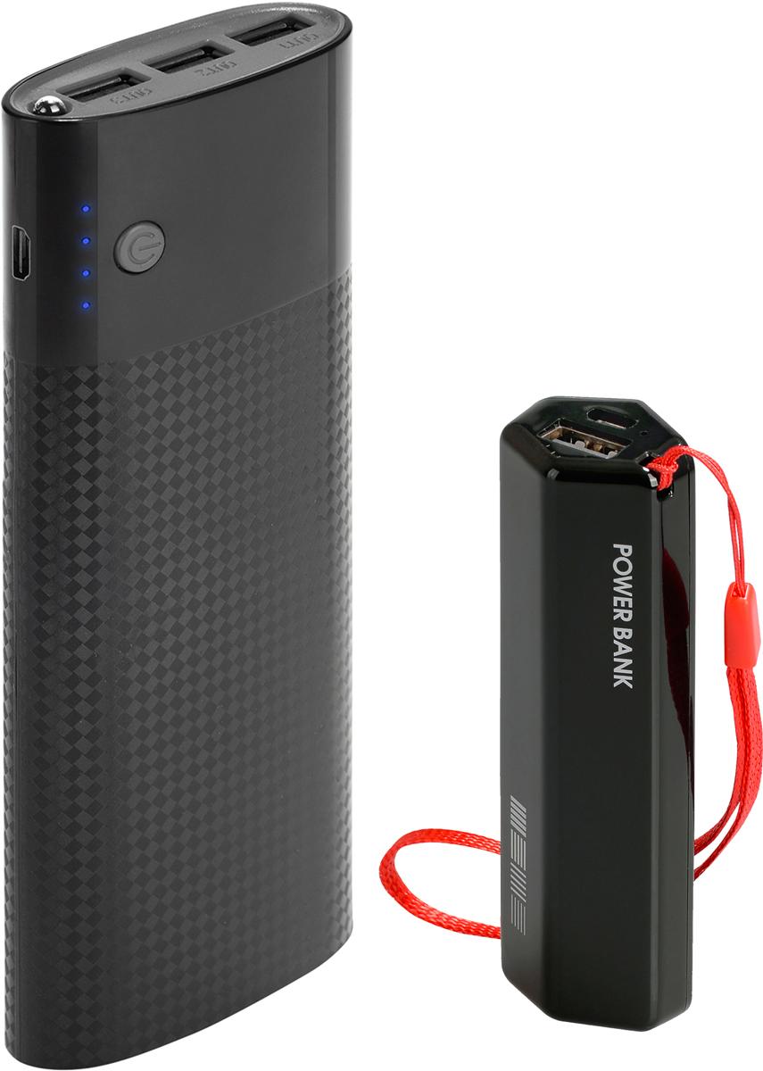 Interstep PB150003U (15000 мАч), Black + PB30001 (3000 мАч) комплект внешних аккумуляторов46153Внешний аккумулятор Interstep Interstep PB150003U (15000 мАч) Компактнее и легче благодаря ULTRA емким аккумуляторам внутри. 3USB выхода для заряда сразу трех устройств. Вход для заряда батареи: microUSB, 5В / 2AВыходы: 3USB / макс. 2.4AЕмкость батареи: 15 000 мАч / 3,7ВТип батареи: Li-Ion (5x3000мАч компоновка ячейками ULTRA) Кол-во цикло заряда батареи: до 500Диапазон температур: - 15C + 50CКол-во зарядов смартфона: x6 (зависит от емкости батареи смартфона) Кол-во зарядов планшета: x2 (зависит от емкости батареи планшета) Время заряда PB150003U: около 15 часовLED фонарикПоддержка сквозной заряд - внеш. аккумулятор заряжает, когда заряжается сам. Комплектность: внешний аккумулятор, кабель microUSB.Внешний аккумулятор Interstep PB30001 (3000 мАч) Легкий портативный внешний аккумулятор, снабжен дополнительным ремешком на запястье. Комплектность: внешний АКБ, кабель microUSB. Вход для заряда батареи: microUSB 5В / 1A. USB выход: 5В, макс. 1A. Емкость батареи: 3000 мАч / 3,7В. Тип батареи: Li-Ion. Кол-во цикло заряда батареи: до 500. Диапазон температур: - 15C? + 50C?. Кол-во зарядов смартфона: + 100% (зависит от емкости заряда батареи смартфона). Как определить емкость заряда аккумулятора? При подключении внешнего аккумулятора PB3001U к смартфону, световой индиктор будет мигать следующим образом: Емкость внешнего аккумулятора Одно мигание: 0-25%Два мигания: 25-50%Три мигания: 50-75%Четыре мигания: 75-100%Кабель microUSB для заряда внешнего аккумулятора приобретается дополнительно.