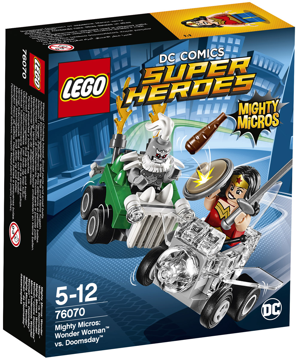LEGO Super Heroes Конструктор Mighty Micros Чудо-женщина против Думсдэя 76070 конструктор lego super heroes росомаха против магнето 76073