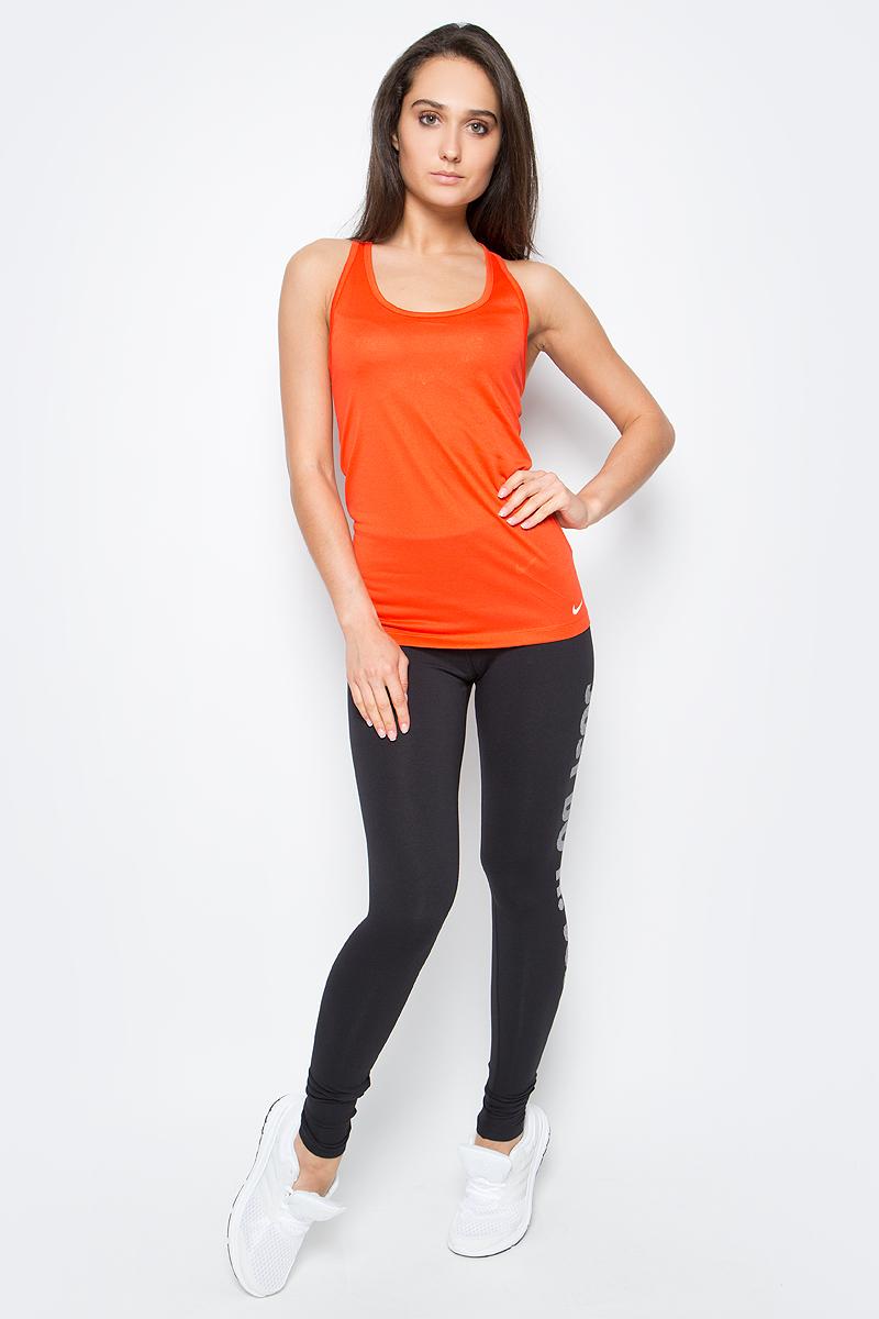 Майка для фитнеса женская Nike Nk Dry Tank Balance, цвет: оранжевый. 648567-852. Размер S (42/44)648567-852Женская майка для тренинга от Nike выполнена из полиэстера. Технология Dri-FIT обеспечивает вентиляцию и комфорт.Т-образная спина с глубокими вырезами обеспечивает свободу движений.Плотная посадка для безграничного комфорта.