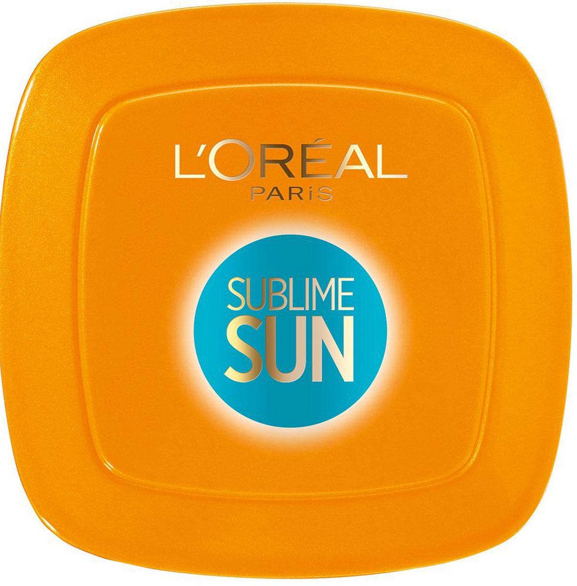 LOreal Paris Sublime Sun Компактная пудра Загар и защита, SPF 30, 9 гр078-054-797972Компактная солнцезащитная пудра для лица и зоны декольте, SPF 30, гипоаллергенная, некомедогенная. Соответствует европейским рекомендациям по защите здоровья кожи от вредного воздействия лучей UVA/UVB. Система фильтров Mexoryl XL. Формула насыщена минеральными пигментами для красивой кожи мгновенно. Мгновенный безупречный результат. Естественная, ровная матовая кожа. Спонж + зеркало внутри.