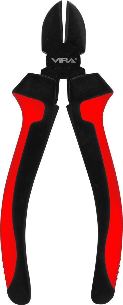 Бокорезы Vira, 8. 311030311030Бокорезы предназначены для разрезания различных по толщине проводов или проволоки. Увеличенный размер бокорезов позволяет разрезать более толстые предметы. Удлиненные ручки позволяют прилагать меньшее усилие при работе. Инструмент выполнен из высококачественной инструментальной стали CS55. Твердость режущих кромок составляет 56-62 HRC. На рабочую часть нанесено воронение, которое в значительной степени увеличивает долговечность инструмента. Бокорезы оптимизированы для слесарно-монтажных работ. Двухкомпонентные ручки эргономичной формы обеспечивают удобство и безопасность работы.