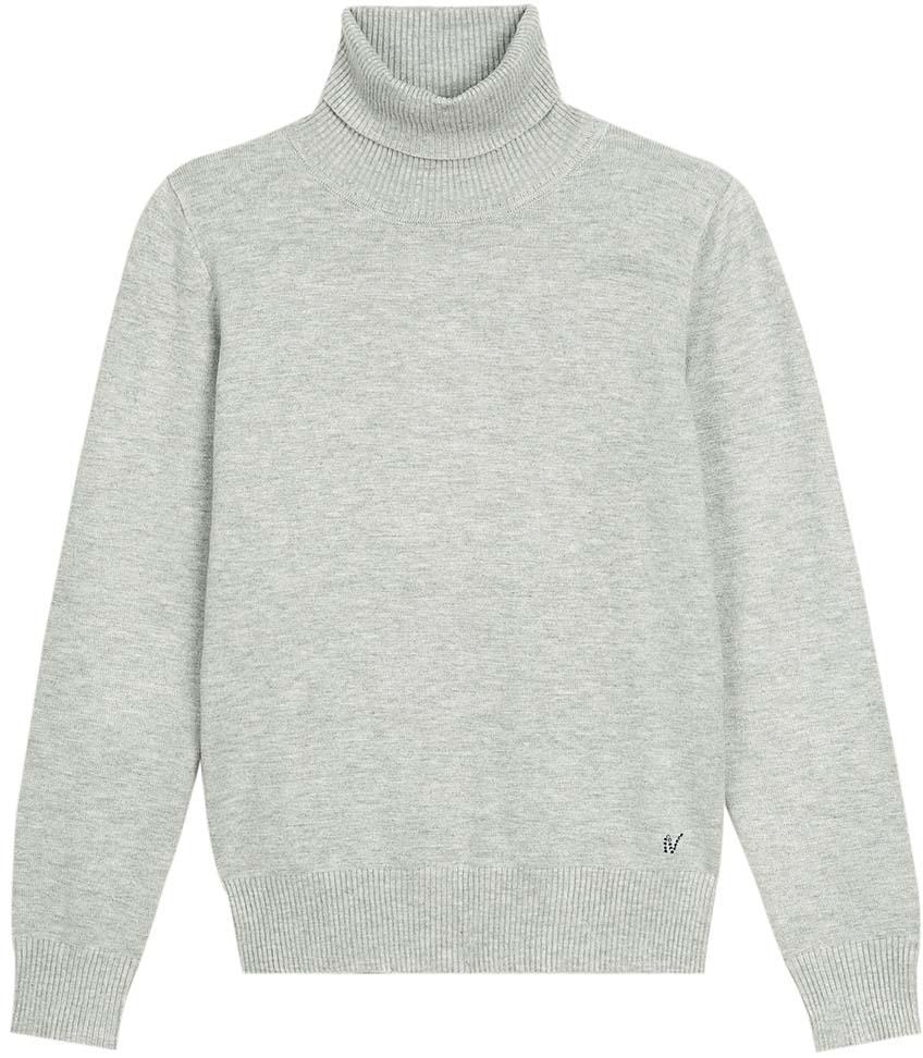 Свитер для девочки Vitacci, цвет: серый. 2173008-02. Размер 164 юбка для девочки vitacci цвет черный 2173043l 03 размер 164