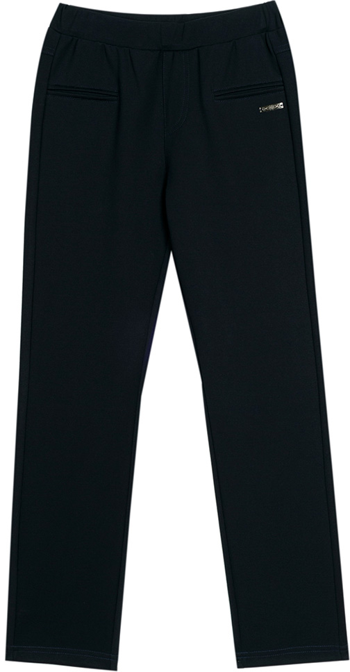 Брюки для девочки Vitacci, цвет: черный. 2173120L-03. Размер 1342173120L-03Классические школьные брюки для девочки выполнены из качественного материала. Просторная модель оригинального кроя на широком поясе.