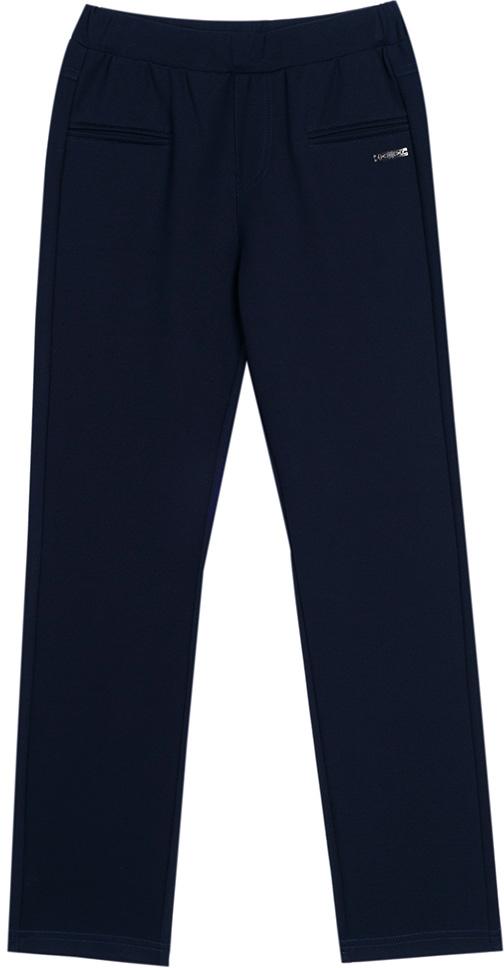 Брюки для девочки Vitacci, цвет: темно-синий. 2173120L-04. Размер 1402173120L-04Классические школьные брюки для девочки выполнены из качественного материала. Просторная модель оригинального кроя на широком поясе.