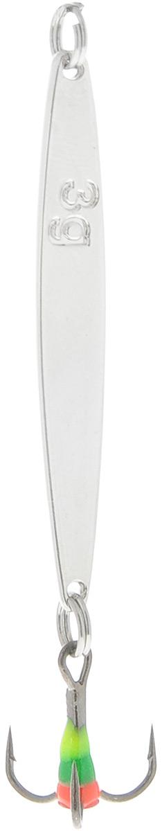 Блесна зимняя SWD, цвет: серебряный, 57 мм, 6 г