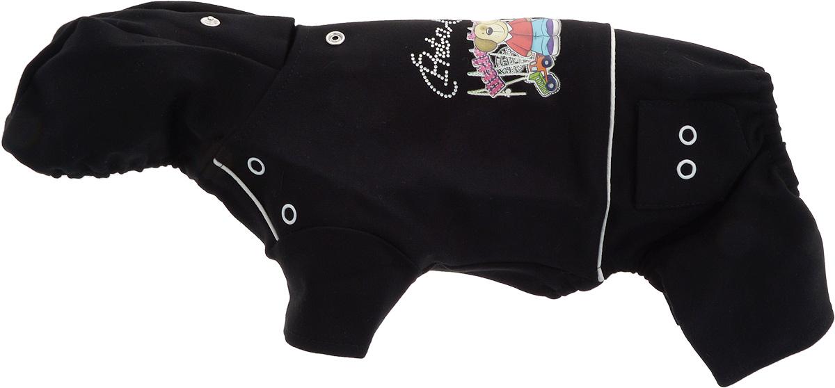Комбинезон для собак GLG  Мультяшки , цвет: черный. Размер S - Одежда, обувь, украшения