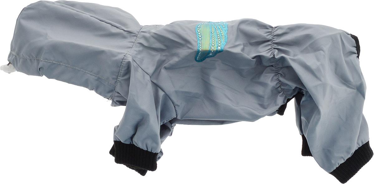 Дождевик прогулочный для собак GLG Крылья, цвет: серый. Размер MMOS-016Прогулочный дождевик для собак GLG Крылья выполнен из высококачественного текстиля разной текстуры. Рукава не ограничивают свободу движений, и собачка будет чувствовать себя в ней комфортно. Изделие застегивается с помощью кнопок. br>Изделие оформлено декоративной нашивкой.Модный и невероятно удобный непромокаемый дождевик защитит вашего питомца от дождя и насекомых на улице, согреет дома или на даче.