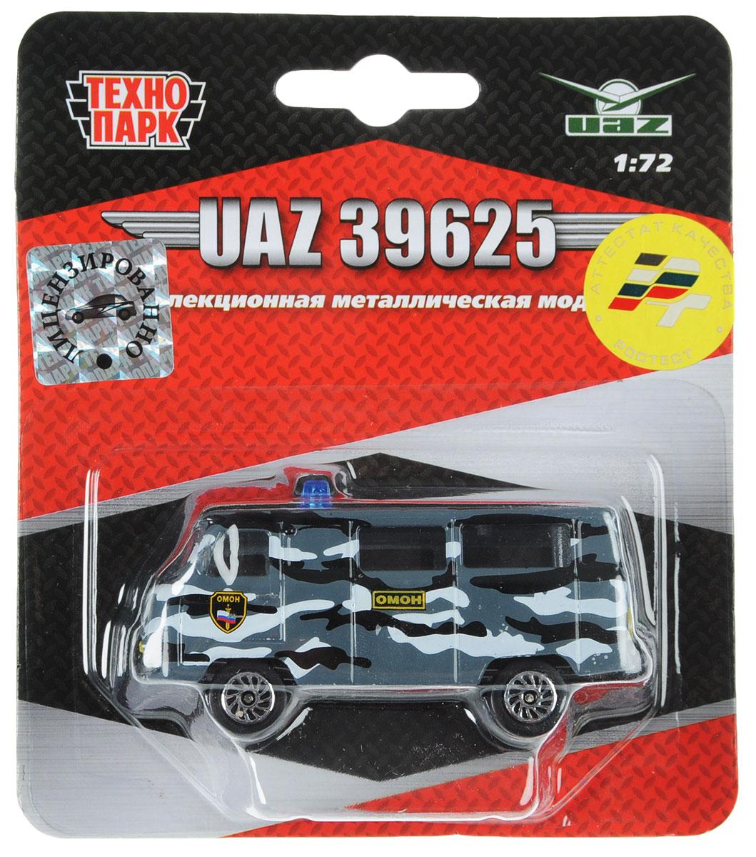 ТехноПарк Автомобиль UAZ 39625 Омон autotime модель автомобиля uaz 39625 военная автоинспекция