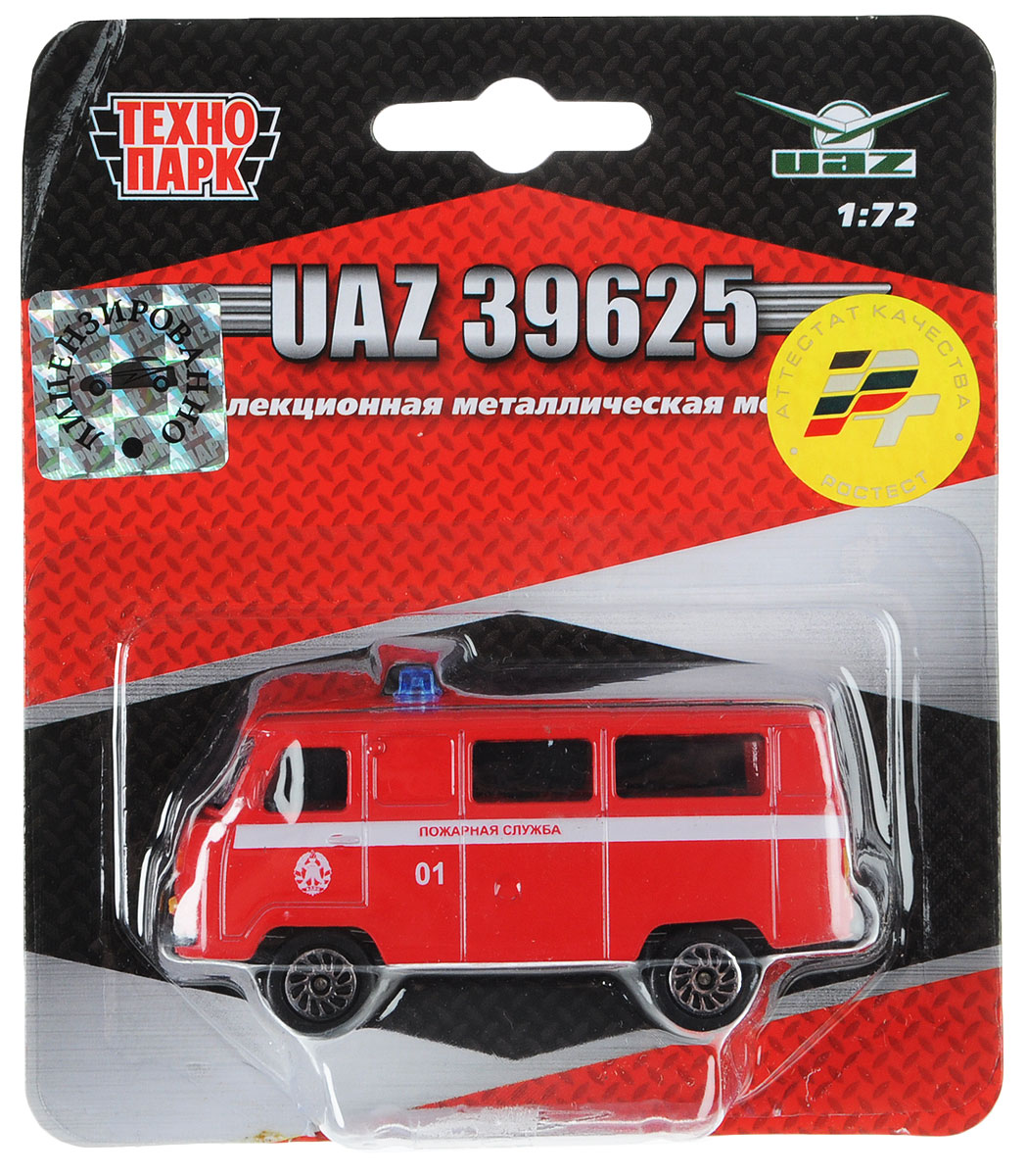 ТехноПарк Автомобиль UAZ 39625 Пожарная служба autotime модель автомобиля uaz 39625 омон