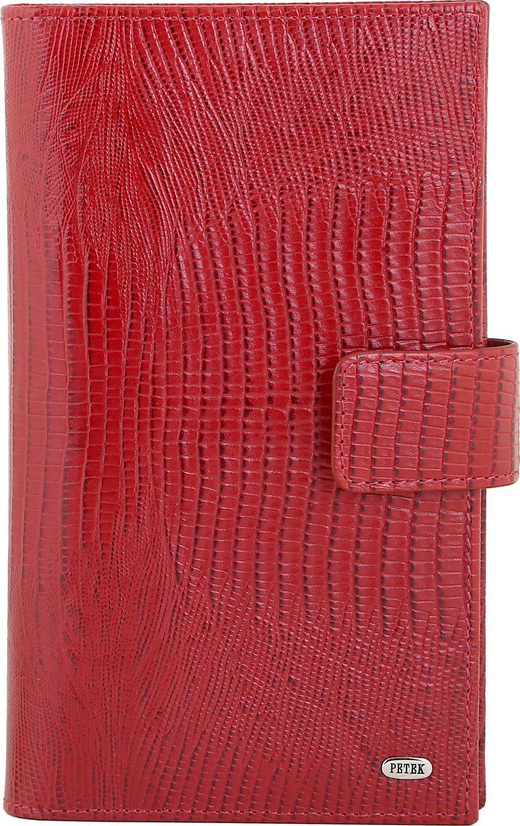 Бумажник Petek 1855, цвет: красный. 2394.041.10 велосипед challenger mission lux fs 26 черно красный 16