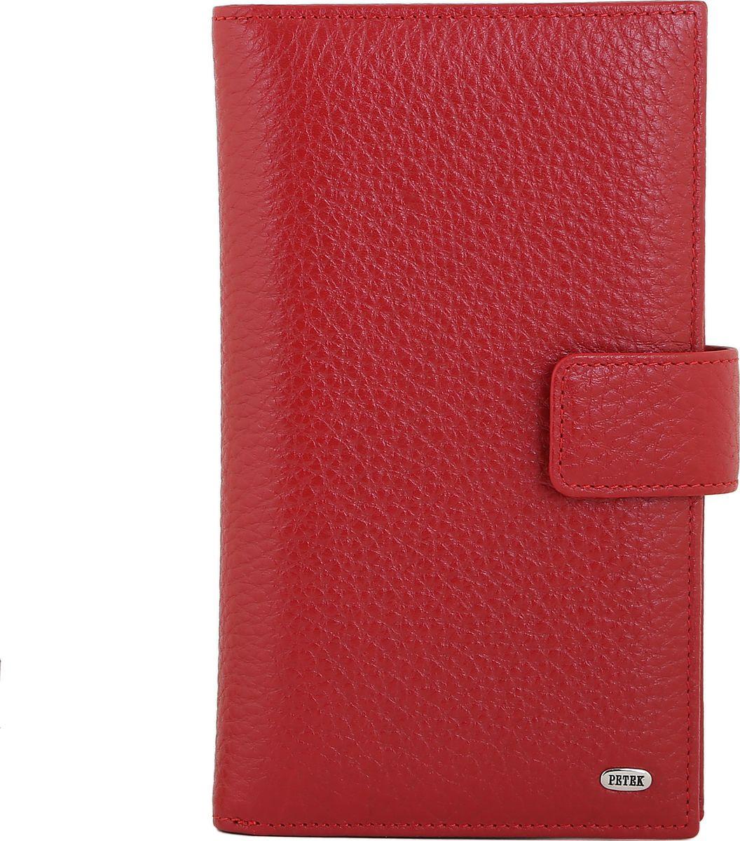 Бумажник мужской Petek 1855, цвет: красный. 2394.46B.102394.46B.10 RedСовременное удобное мужское портмоне Petek из натуральной кожи черного цвета с гладкой фактурой. Внутри имеются четыре кармана для купюр, отделение на молнии, 17 карманов для кредитных карт