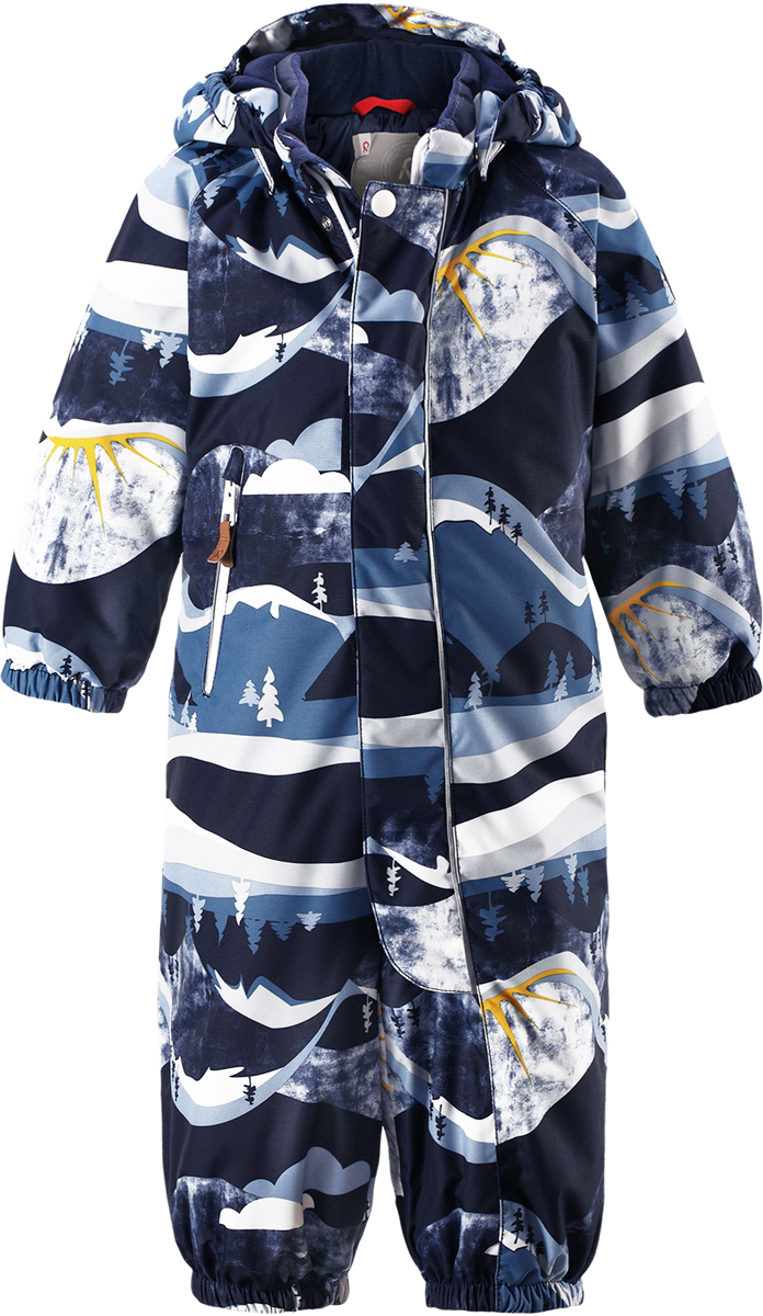 Комбинезон детский Reima Reimatec Puhuri, цвет: темно-синий, белый. 5102626983. Размер 74