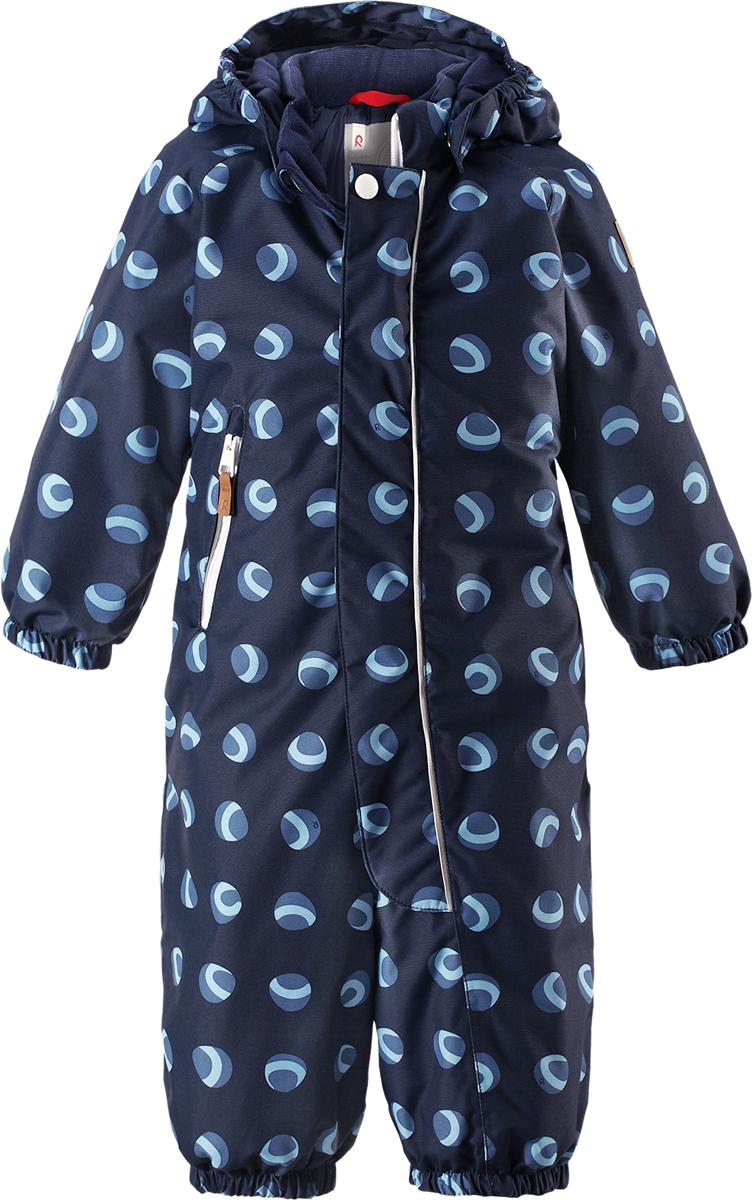 Комбинезон детский Reima Reimatec Puhuri, цвет: темно-синий, синий. 5102626989. Размер 80 комбинезон reima tec цвет синий