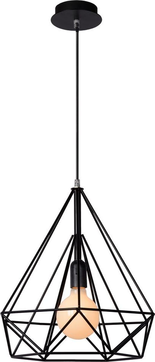 Светильник подвесной Lucide Ricky, цвет: черный, E27, 60 Вт. 06496/37/3006496/37/30
