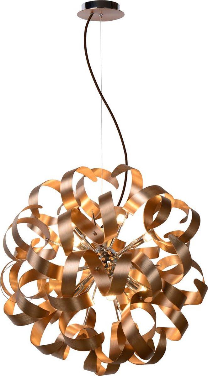 Люстра подвесная Lucide Atoma, цвет: медь, G9, 28 Вт. 13412/48/1713412/48/17