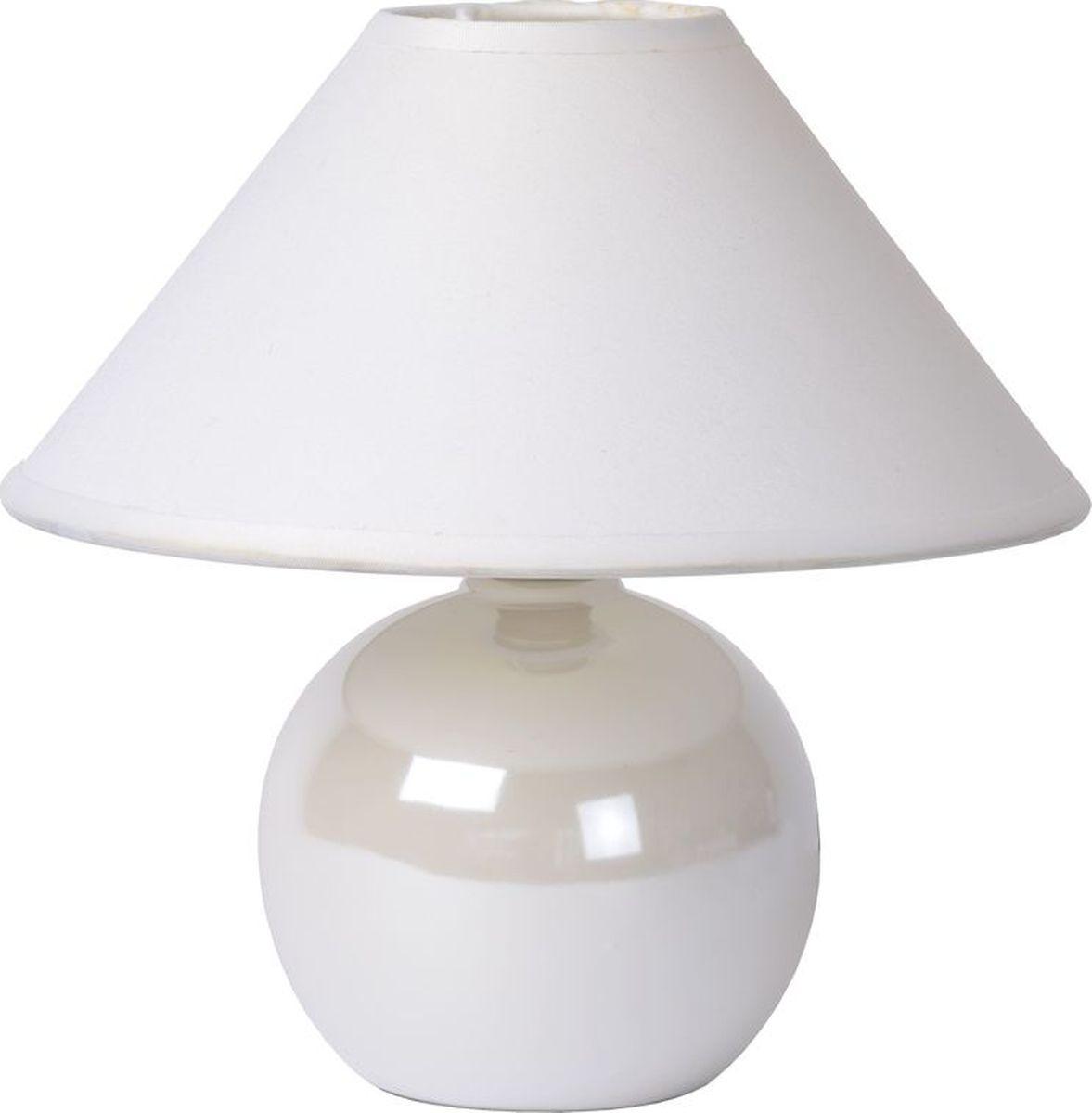 Лампа настольная Lucide Faro, цвет: белый, E14, 40 Вт. 14553/81/3114553/81/31
