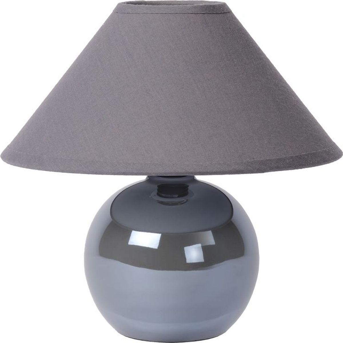 Лампа настольная Lucide Faro, цвет: серый, E14, 4 Вт. 14553/81/3614553/81/36Стильная лампа отлично дополнит ваш интерьер. Сочетание глянцевого и матового материалов несомненно вам понравится.