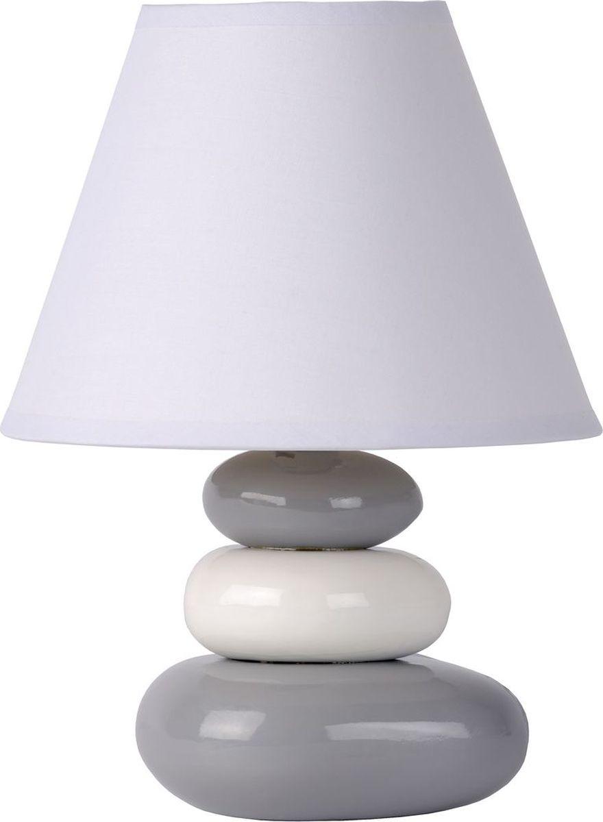 Лампа настольная Lucide Karla, цвет: серый, E14, 40 Вт. 14560/81/3614560/81/36