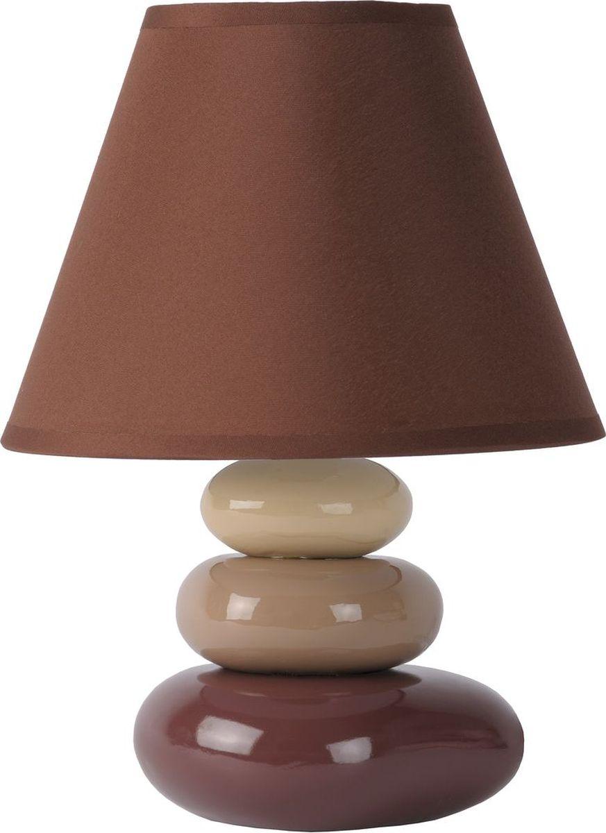 Лампа настольная Lucide Karla, цвет: коричневый, E14, 60 Вт. 14560/81/4314560/81/43