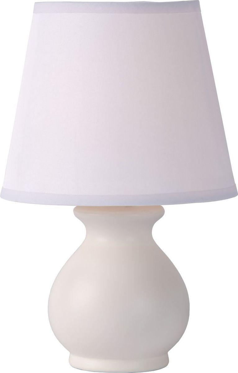 Лампа настольная Lucide Mia, цвет: белый, E14, 40 Вт. 14561/81/3114561/81/31