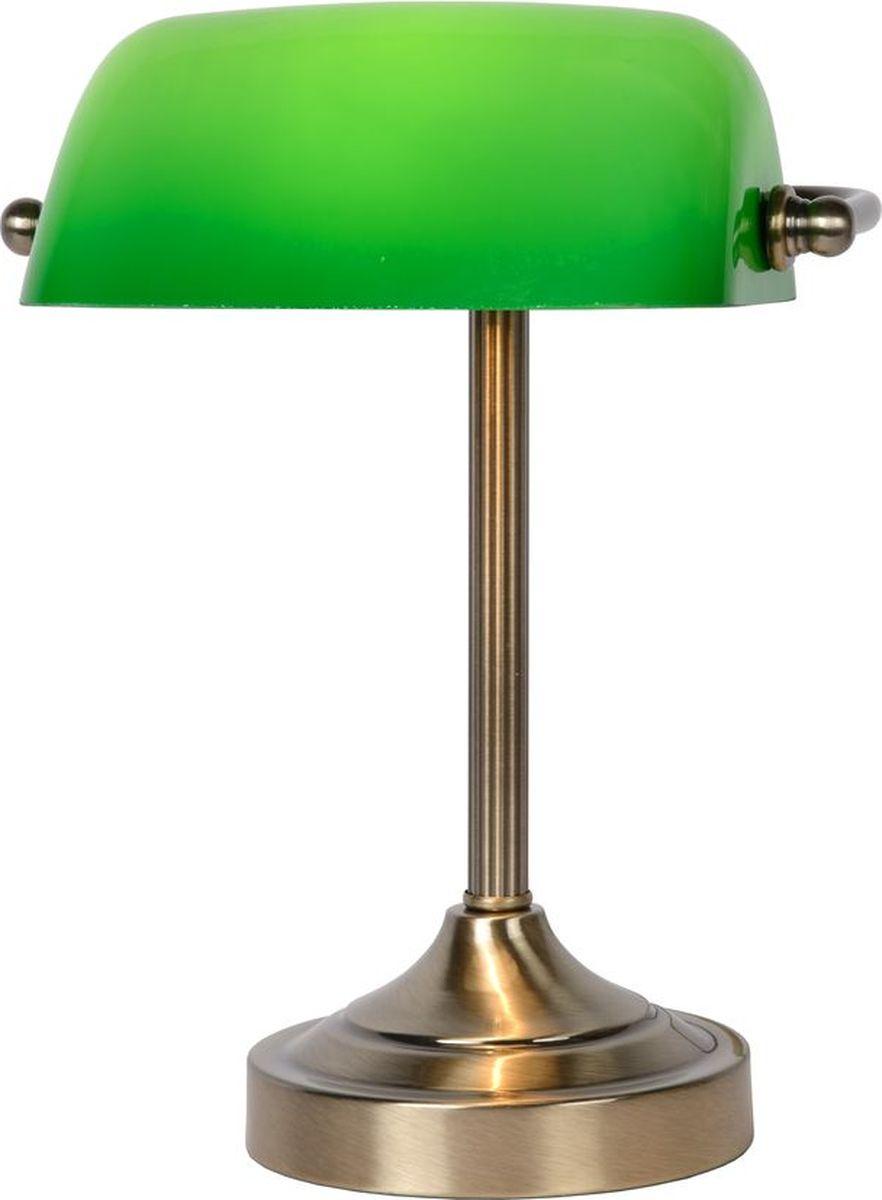 Лампа настольная Lucide Banker, цвет: зеленый, E14, 40 Вт. 17504/01/0317504/01/03