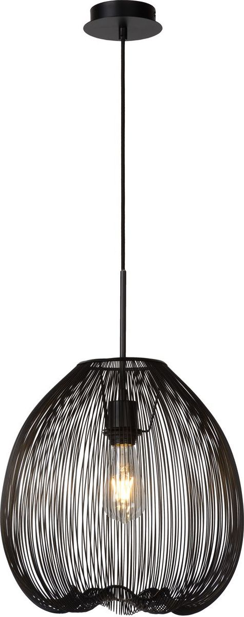 Светильник подвесной Lucide Wirio, цвет: черный, E27, 60 Вт. 20401/35/3020401/35/30