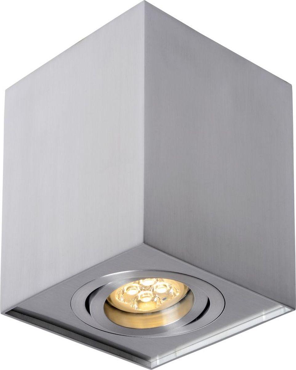 Светильник потолочный Lucide Tube, цвет: хром, GU10, 50 Вт. 22953/01/12 розетка lezard 701 0202 139