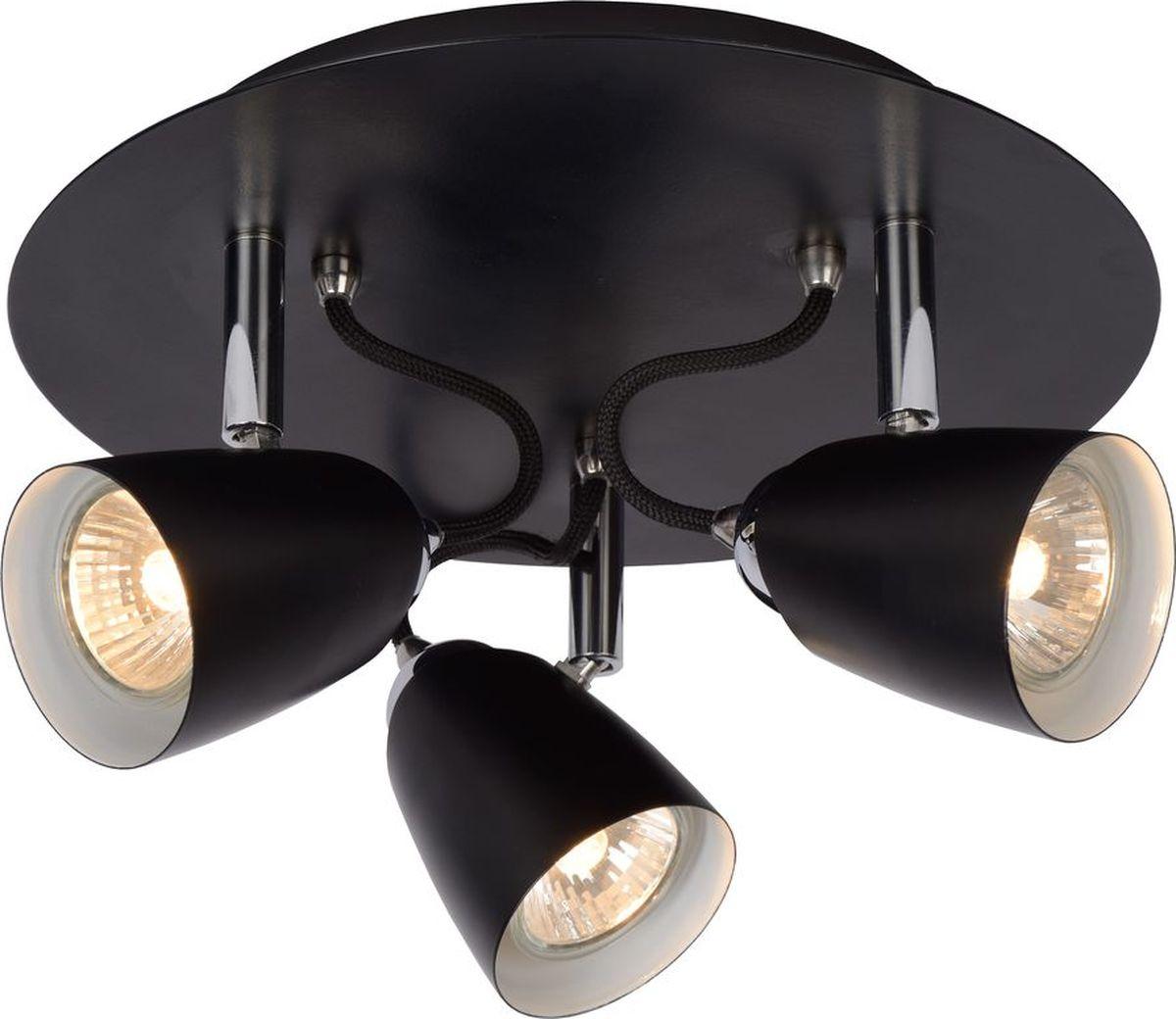 Спот Lucide Ride Black, цвет: черный, GU10, 35 Вт. 26956/13/3026956/13/30