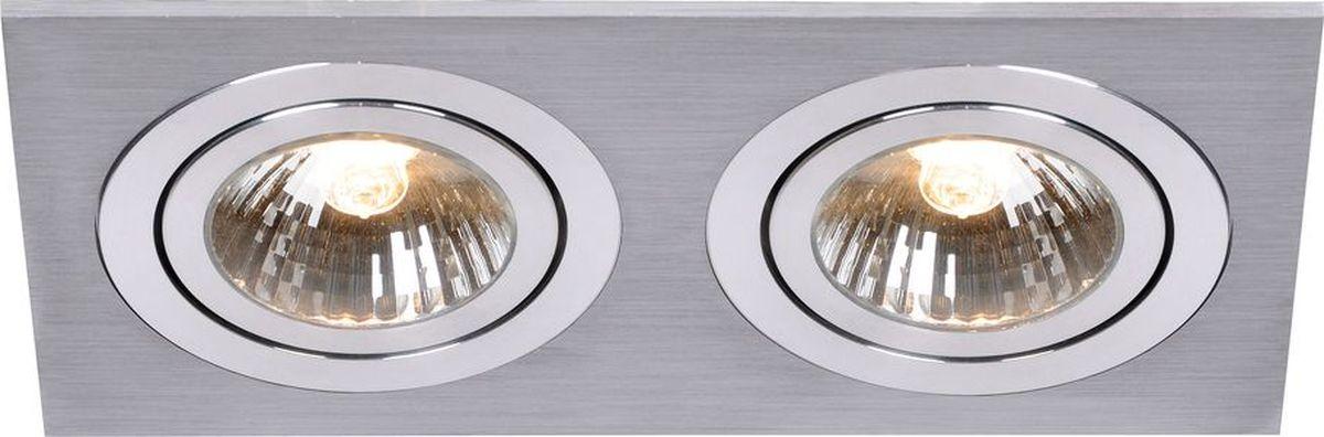 Светильник встраиваемый Lucide Chatty, 2 x GU10, 50 Вт. 28901/02/1228901/02/12Светильник встраиваемый Lucide Chatty отлично подойдет для установки в нишу потолка прихожей в современном стиле. Светильник Lucide с прямоугольными плафонами осветит помещение площадью 5.6 кв. м. Производитель изделия рекомендует использовать для устройства галогеновые лампы с цоколем GU10.