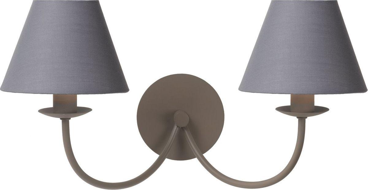 Бра Lucide Campagne, цвет: серый, E14, 60 Вт. 31233/02/4131233/02/41