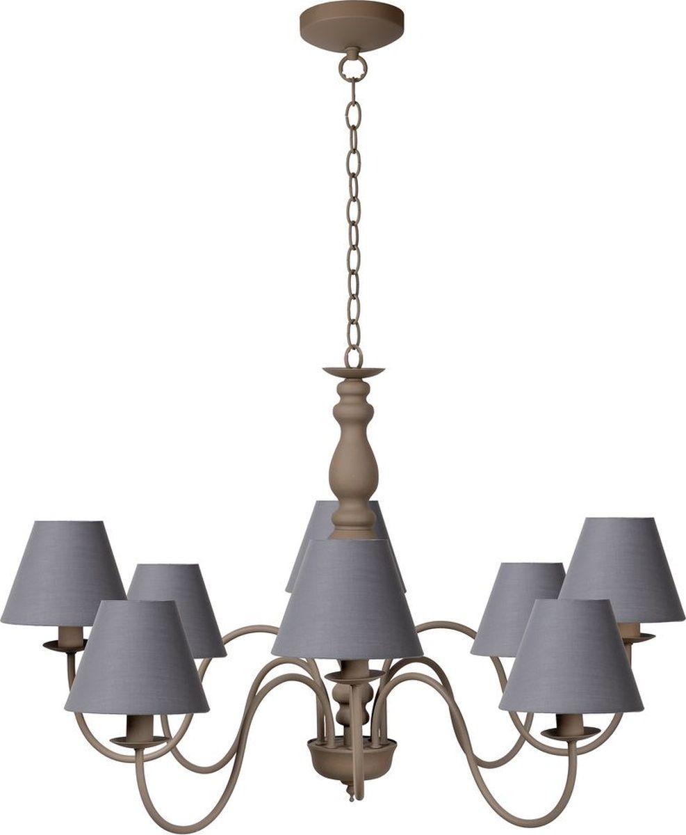 Люстра подвесная Lucide Campagne, цвет: серый, E14, 40 Вт. 31333/08/4131333/08/41