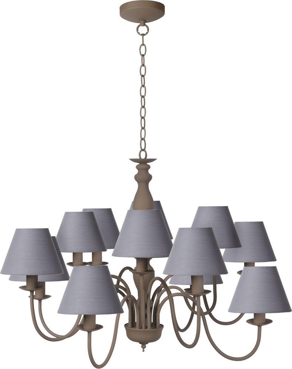 Люстра подвесная Lucide Campagne, цвет: серый, E14, 40 Вт. 31333/12/4131333/12/41