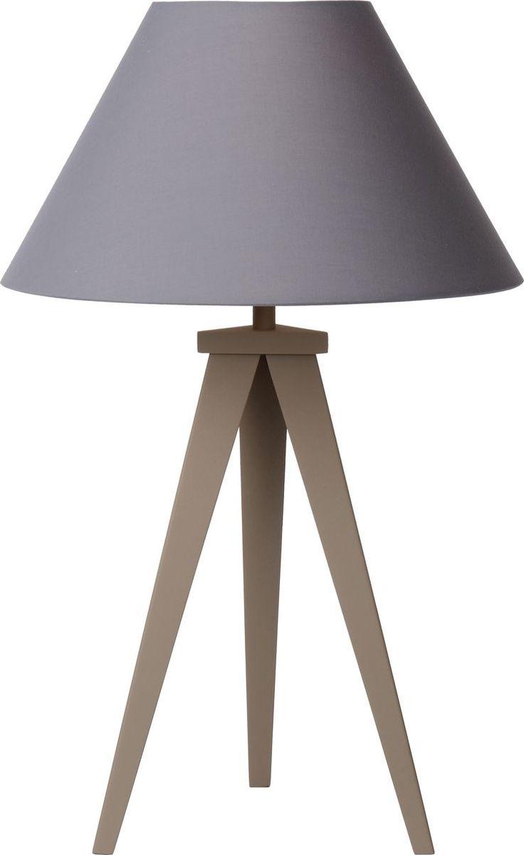 Лампа настольная Lucide Jolli, цвет: серый, E27, 20 Вт. 42502/81/4142502/81/41